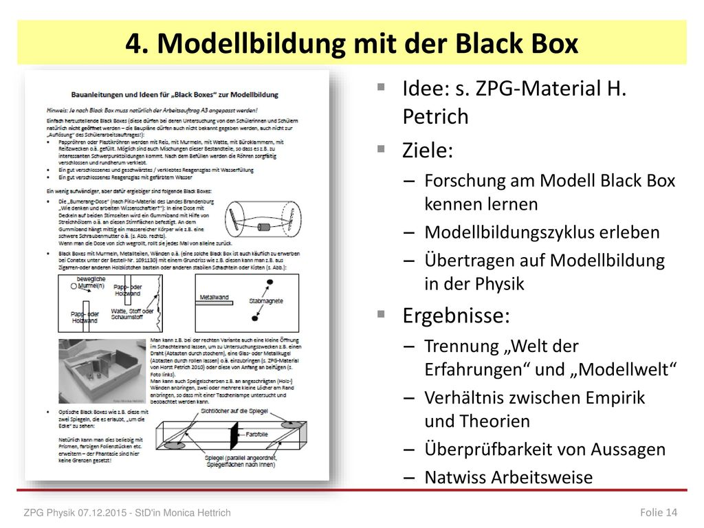 4. Modellbildung mit der Black Box