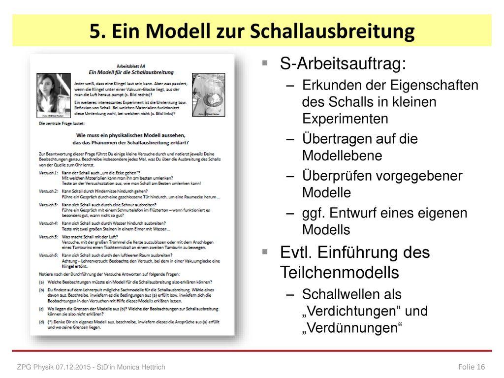 5. Ein Modell zur Schallausbreitung