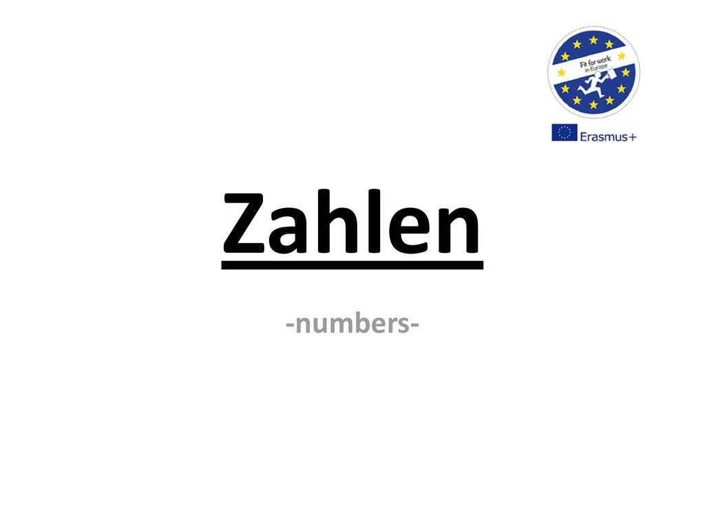 Zahlen -numbers-