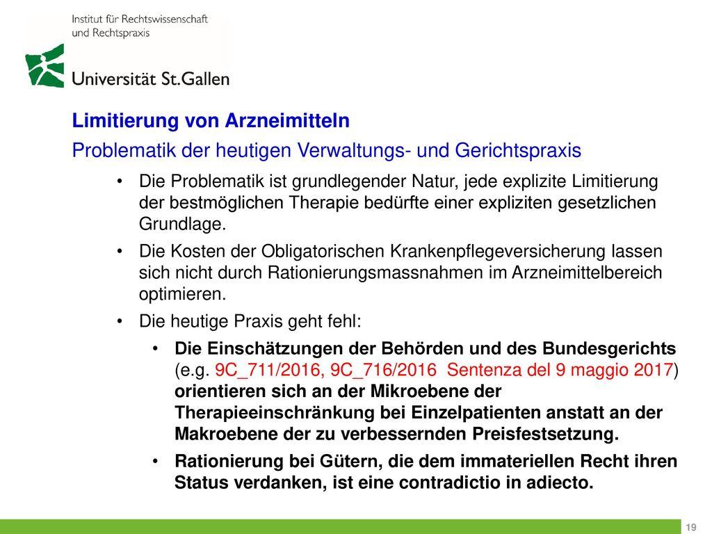 Limitierung von Arzneimitteln