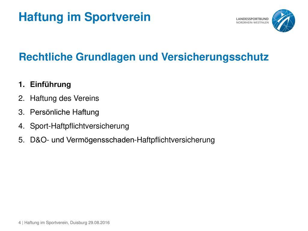 Haftung im Sportverein