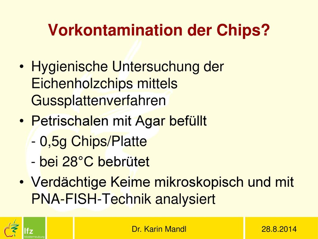 Vorkontamination der Chips