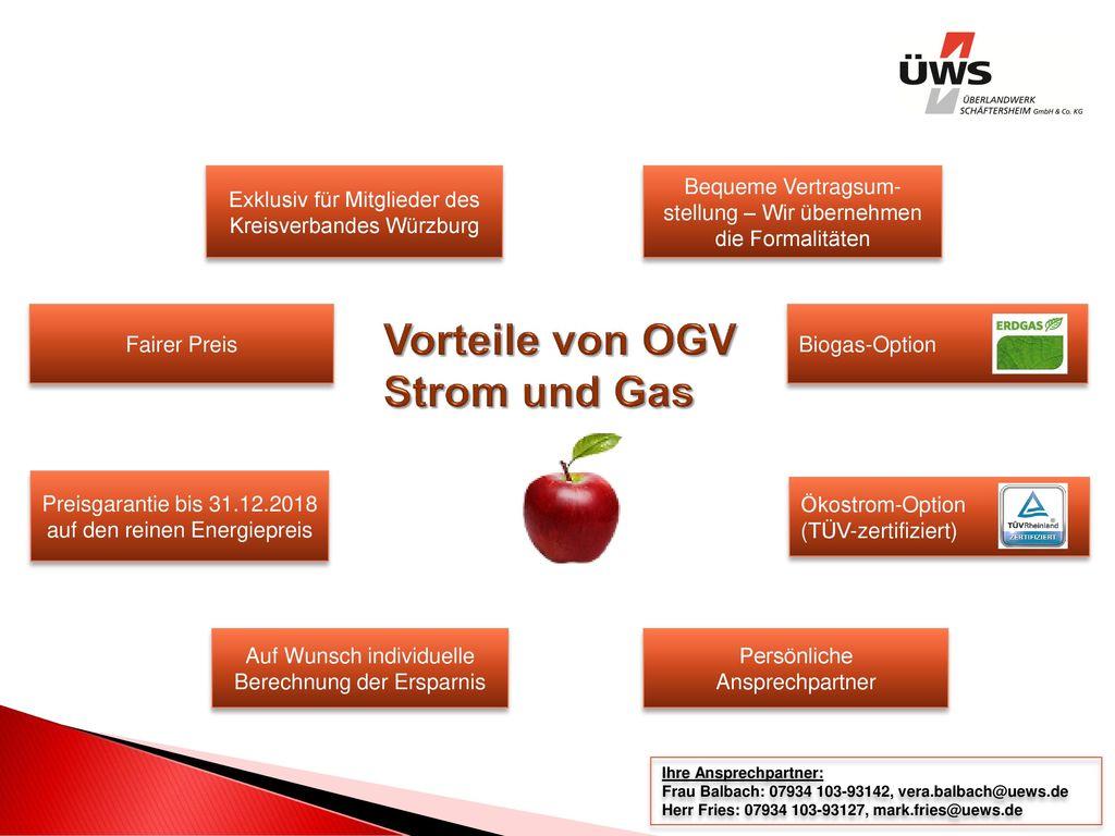 Vorteile von OGV Strom und Gas