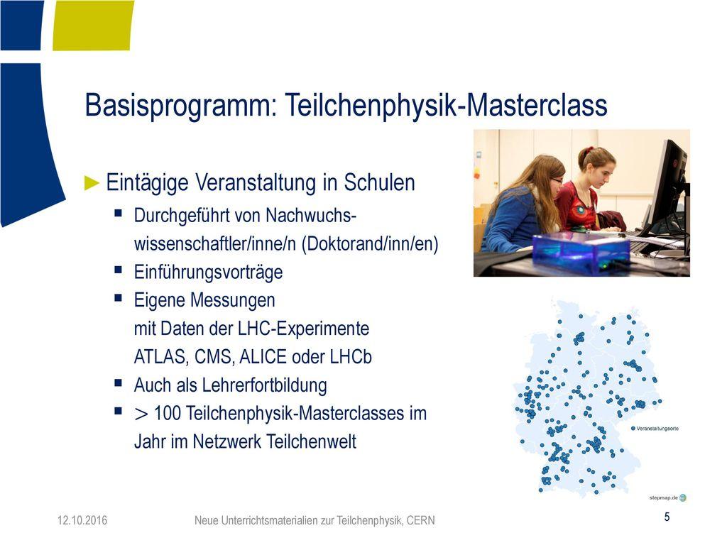 Basisprogramm: Teilchenphysik-Masterclass
