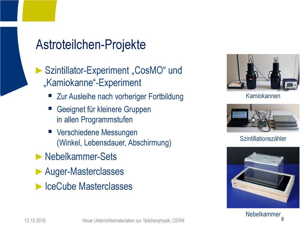 Astroteilchen-Projekte