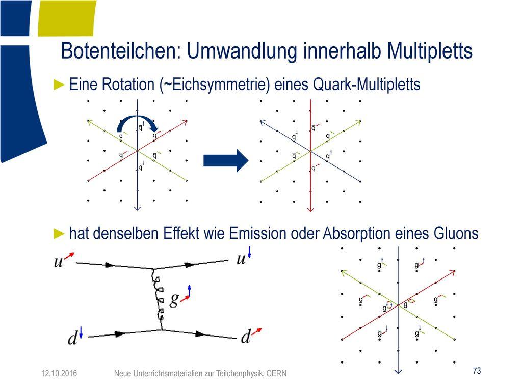 Botenteilchen: Umwandlung innerhalb Multipletts