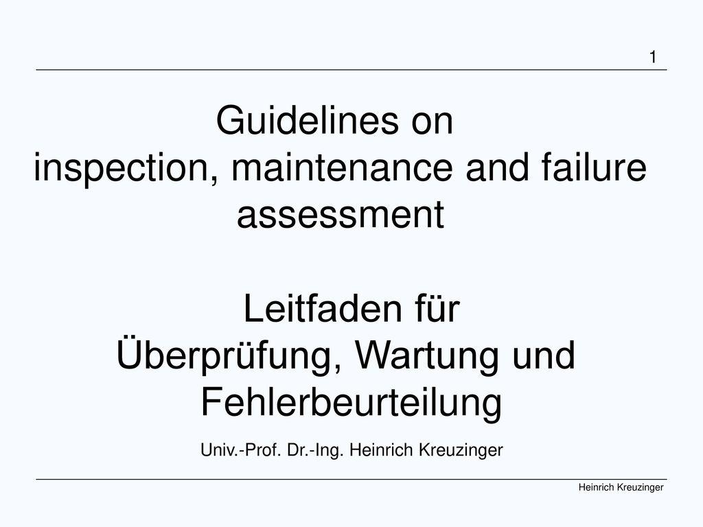 COST Graz 07 Kreuzinger Univ.-Prof. Dr.-Ing. Heinrich Kreuzinger
