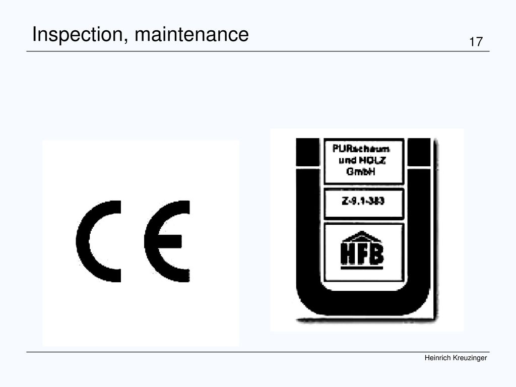 Inspection, maintenance
