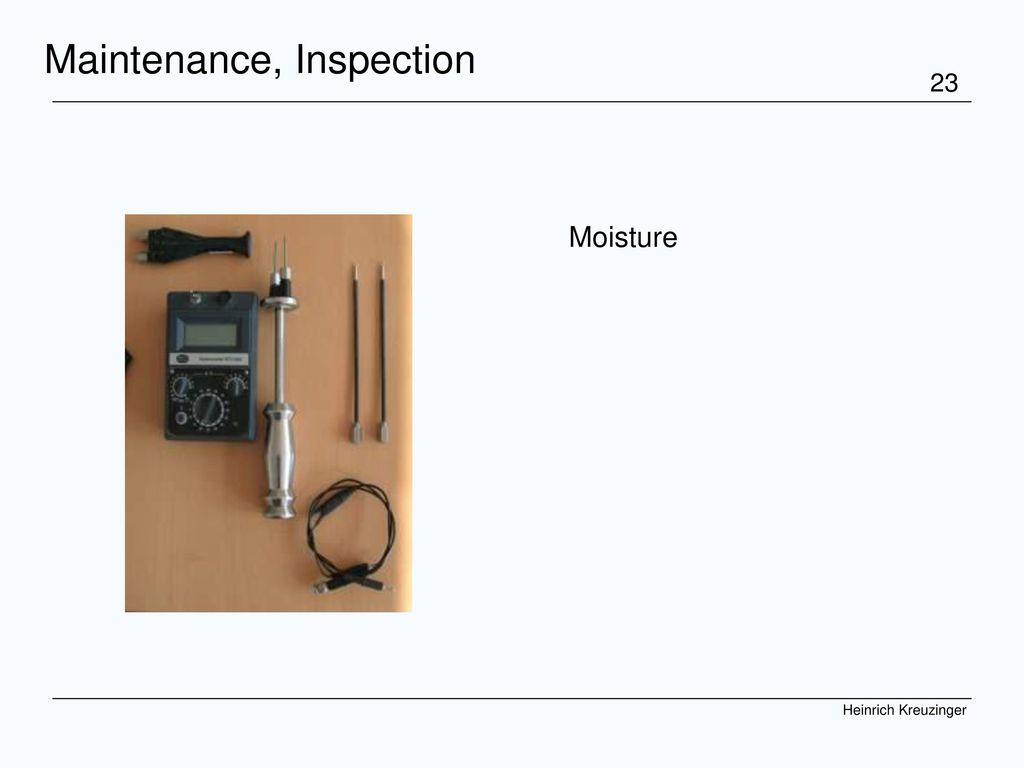 Maintenance, Inspection