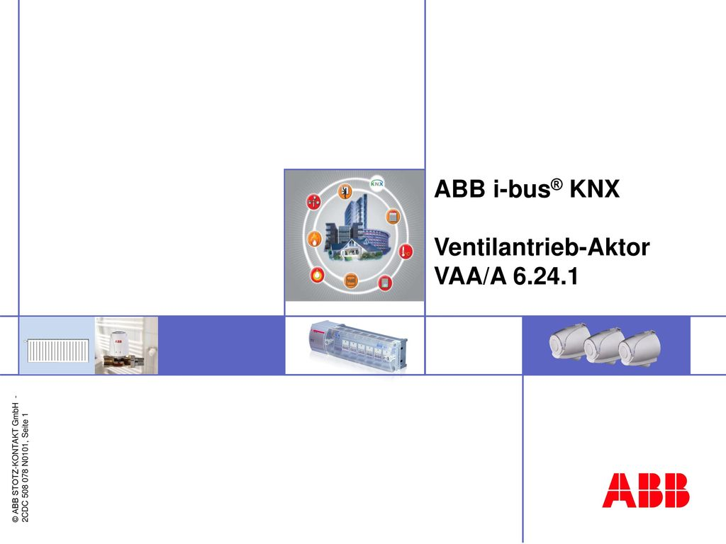 ABB i-bus® KNX Ventilantrieb-Aktor VAA/A 6.24.1