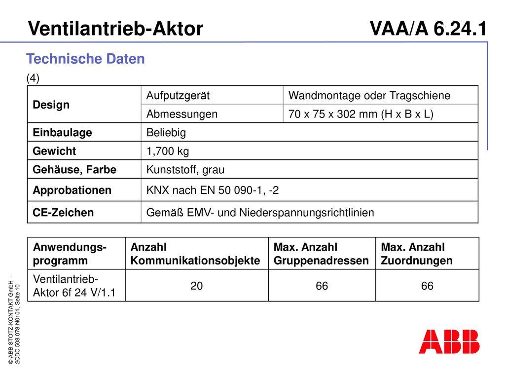 Ventilantrieb-Aktor VAA/A 6.24.1