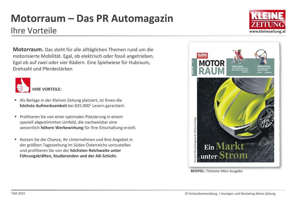 Motorraum – Das PR Automagazin Ihre Vorteile