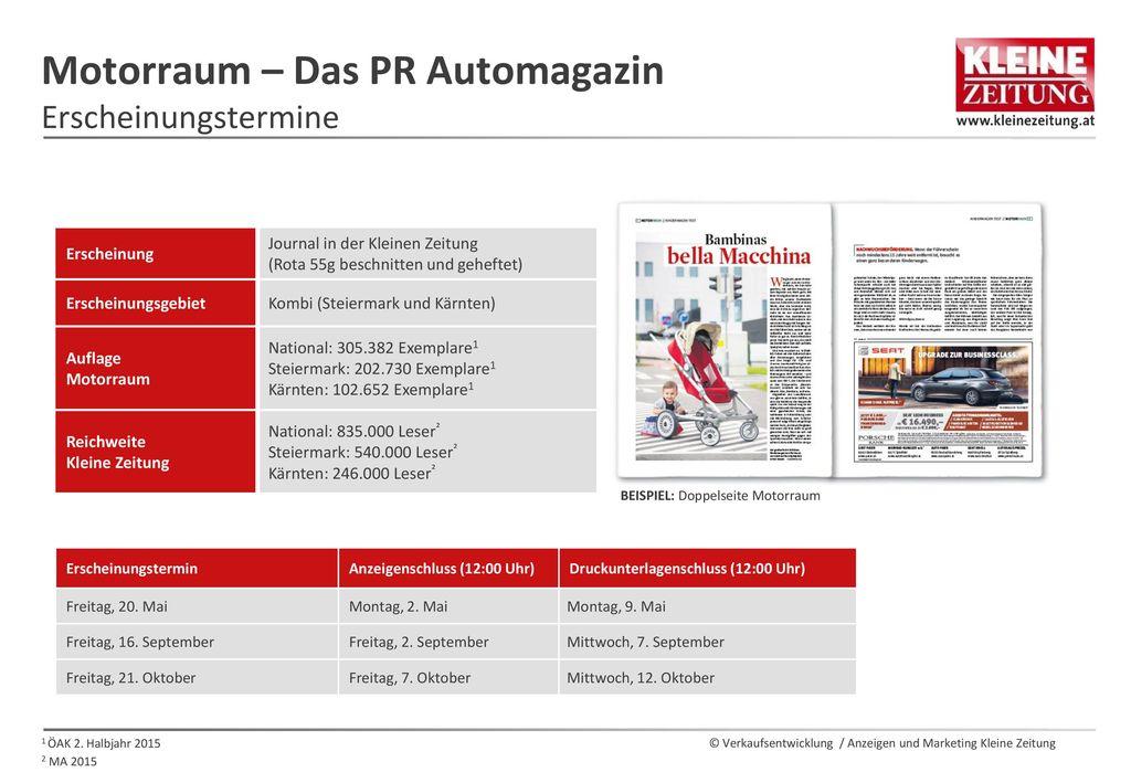 Motorraum – Das PR Automagazin Erscheinungstermine
