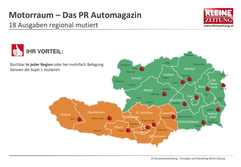 Motorraum – Das PR Automagazin 18 Ausgaben regional mutiert