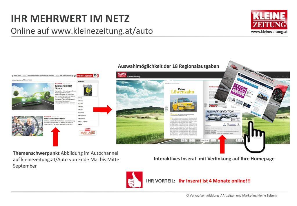 Ihr mehrwert im netz Online auf www.kleinezeitung.at/auto