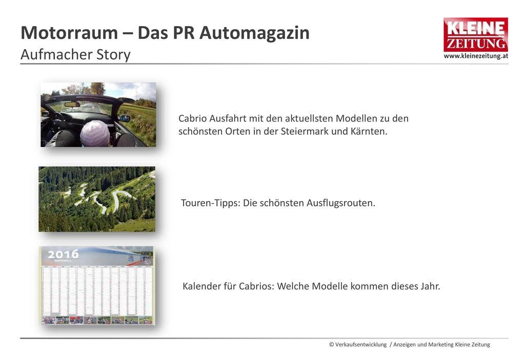 Motorraum – Das PR Automagazin Aufmacher Story