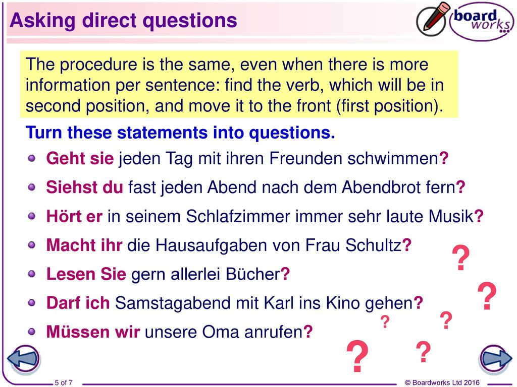 Asking direct questions