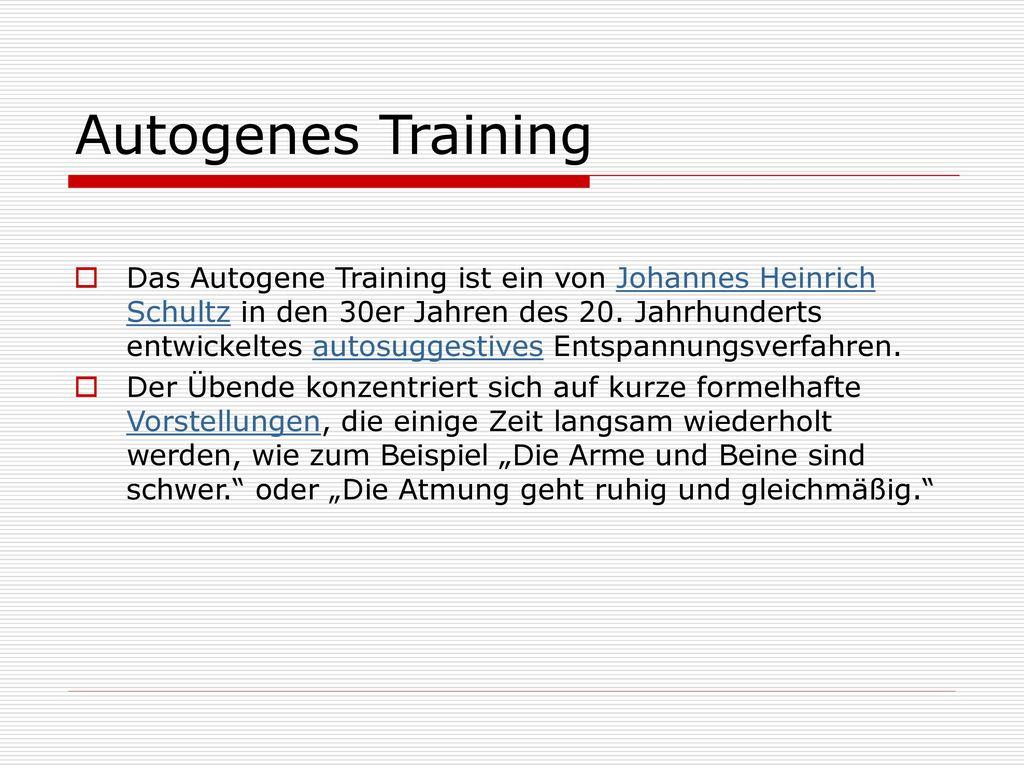 Autogenes Training