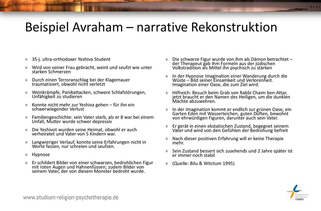 Beispiel Avraham – narrative Rekonstruktion