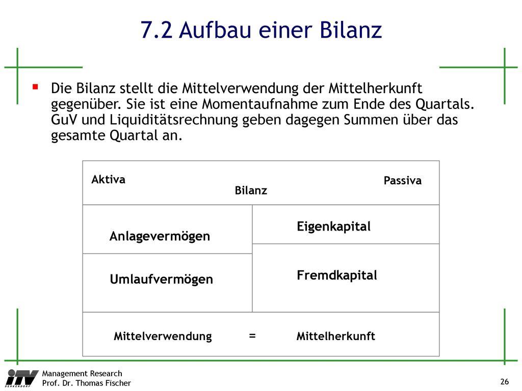 7.2 Aufbau einer Bilanz