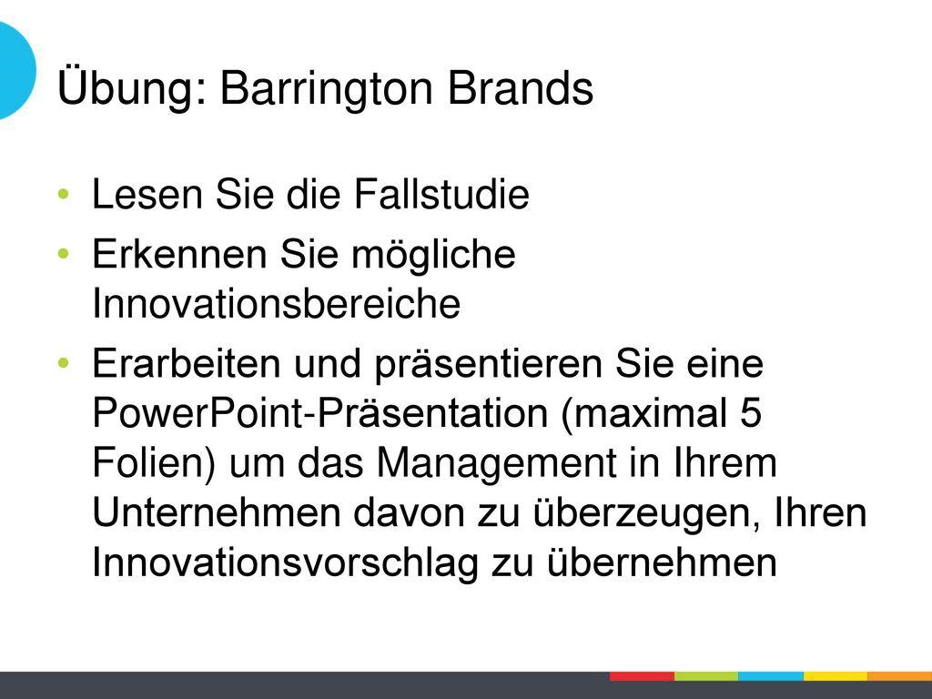 Übung: Barrington Brands