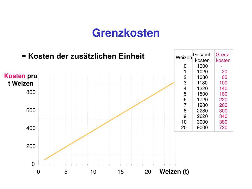 variable und fixe Durchschnittskosten