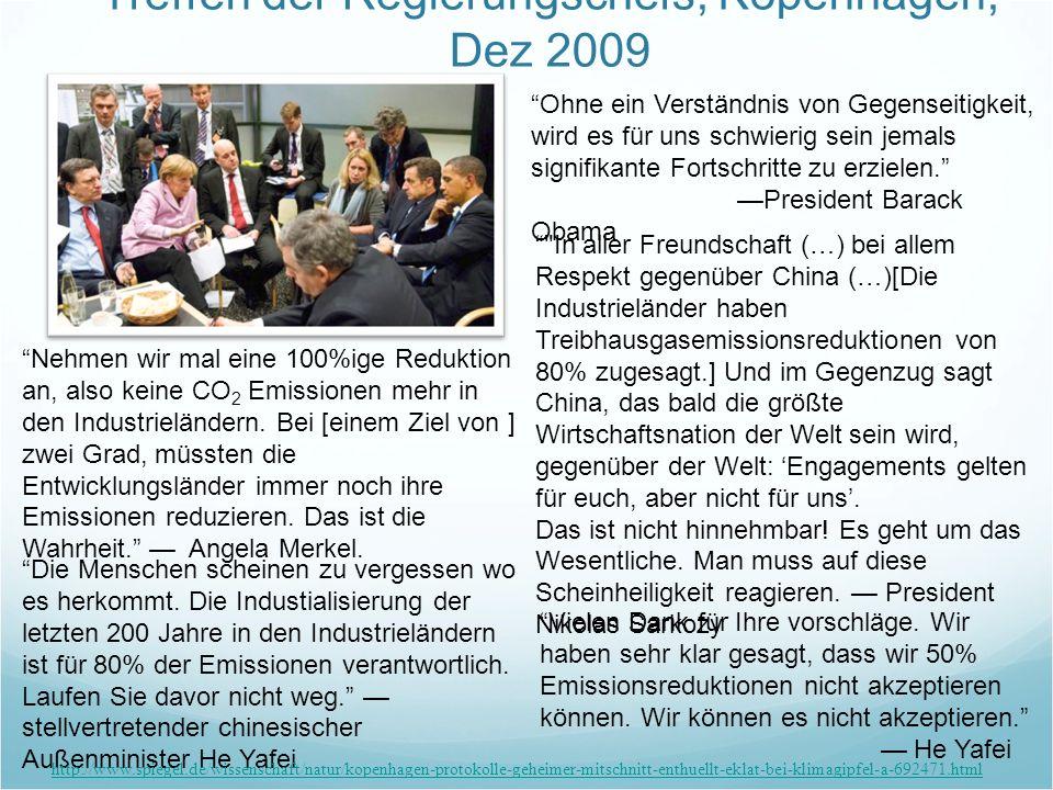 Treffen der Regierungschefs, Kopenhagen, Dez 2009