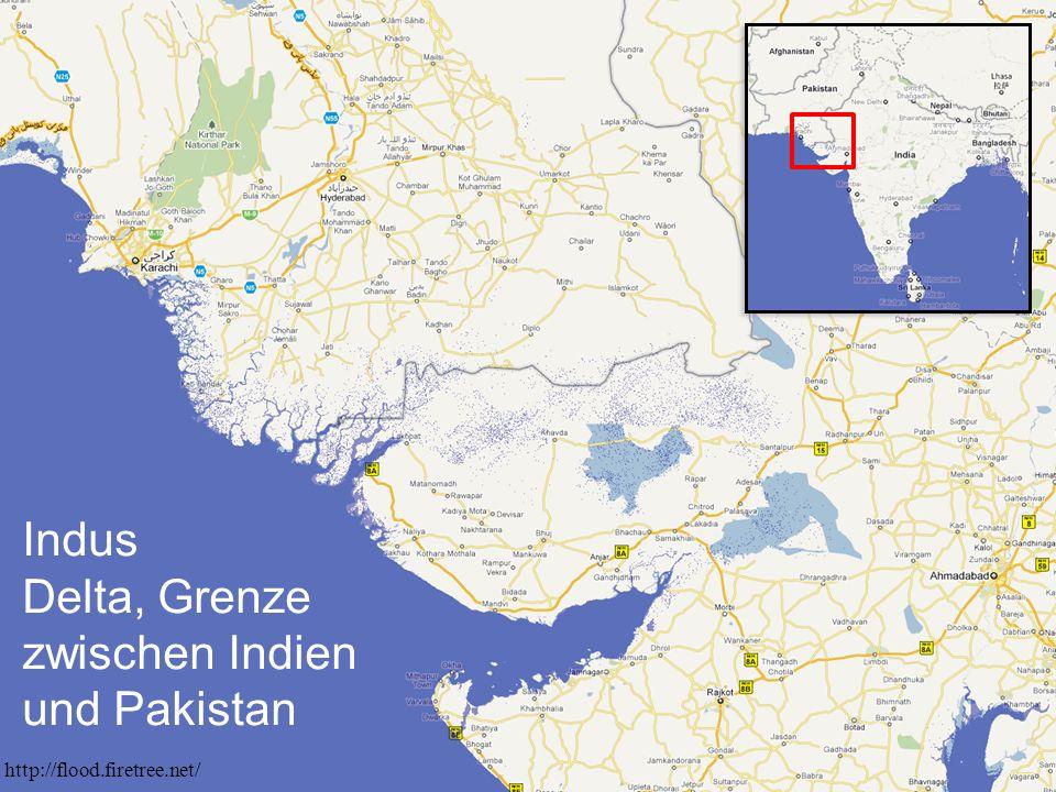 Indus Delta, Grenze zwischen Indien und Pakistan