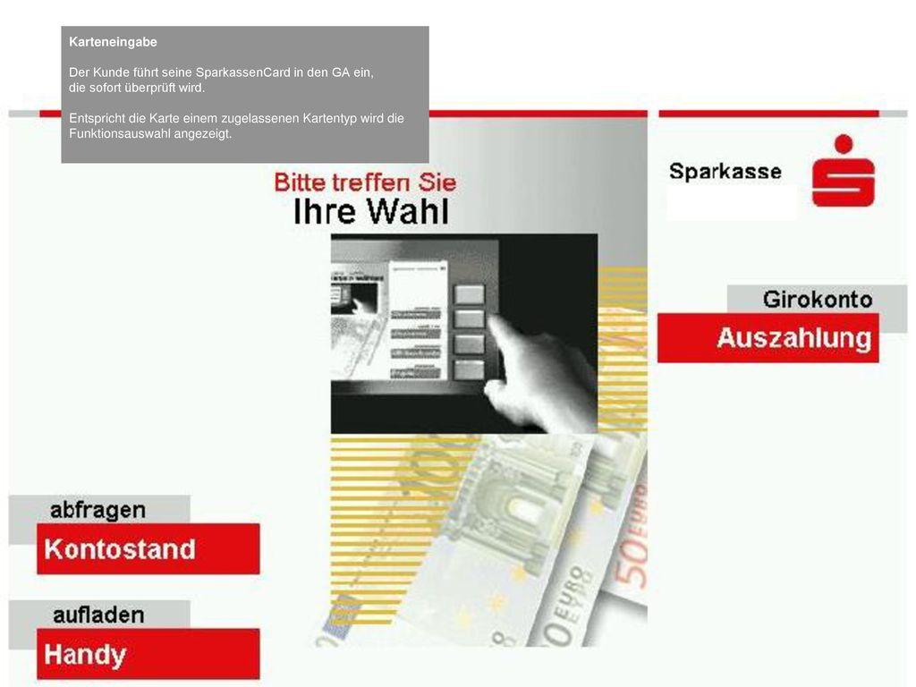 Beladung von Prepaid-Handys an Geldautomaten der Finanz IT - ppt ...