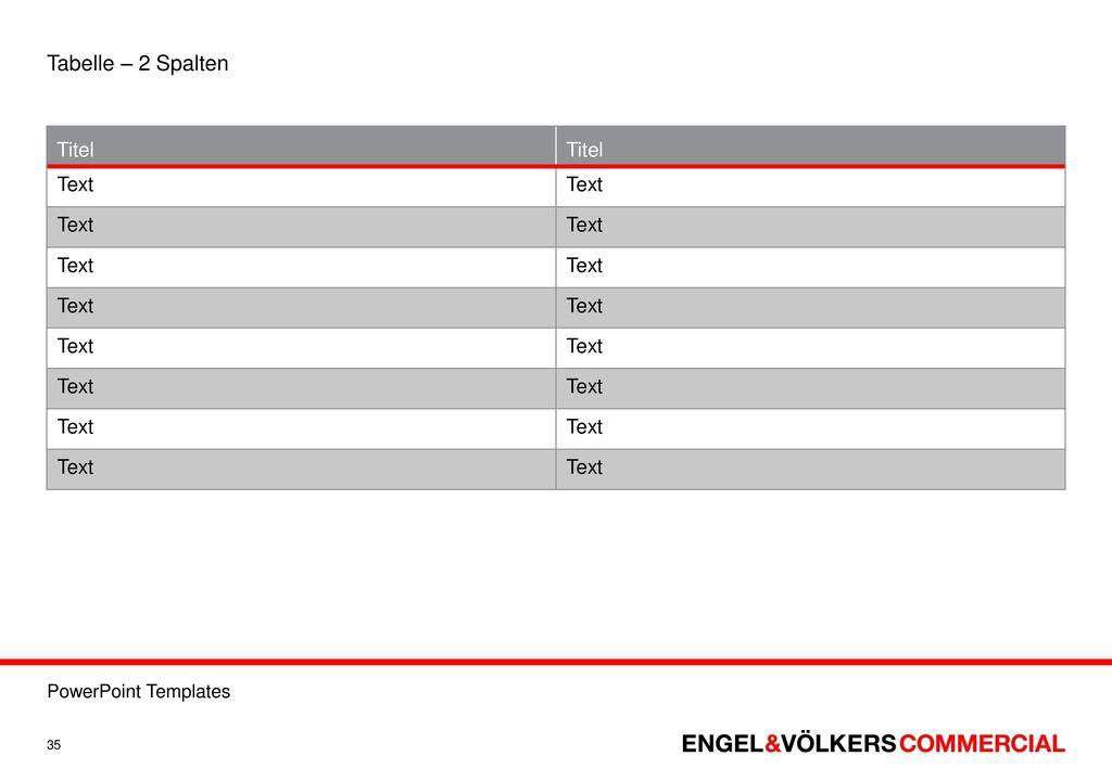Templates zur erstellung von powerpoint pr sentationen for Tabelle 2 spalten