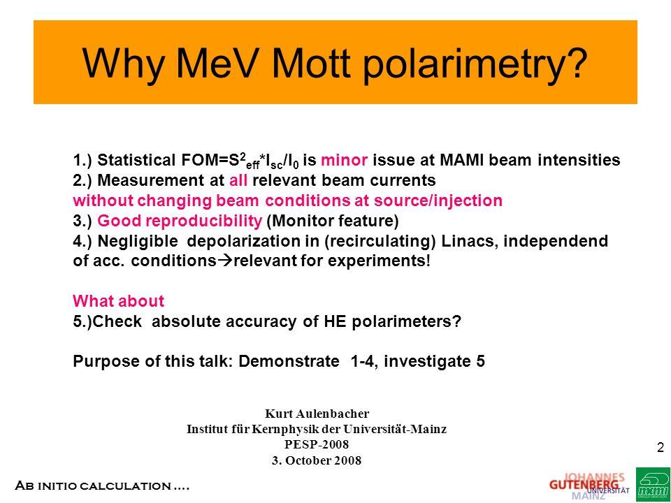 Why MeV Mott polarimetry
