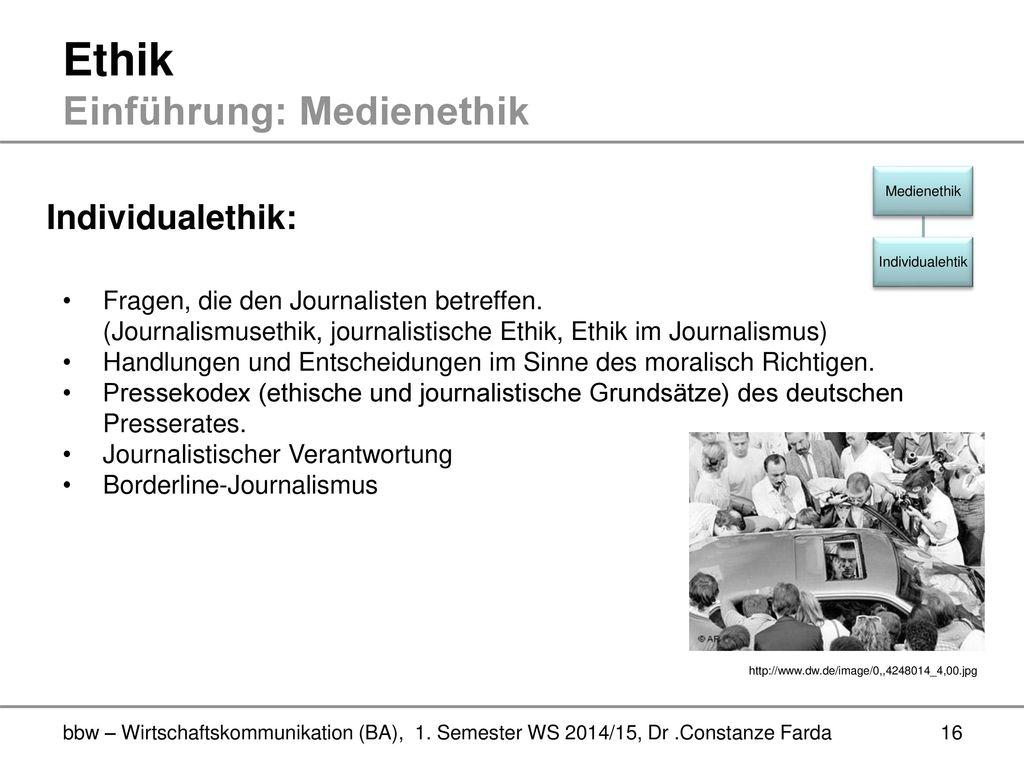 redaktion [als institution der medienethik]