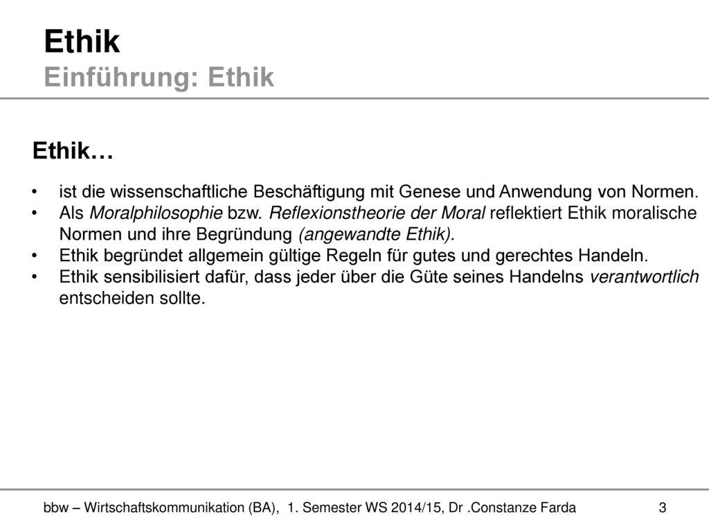 Ethik Einführung und Medienethik ( ) - ppt video online herunterladen