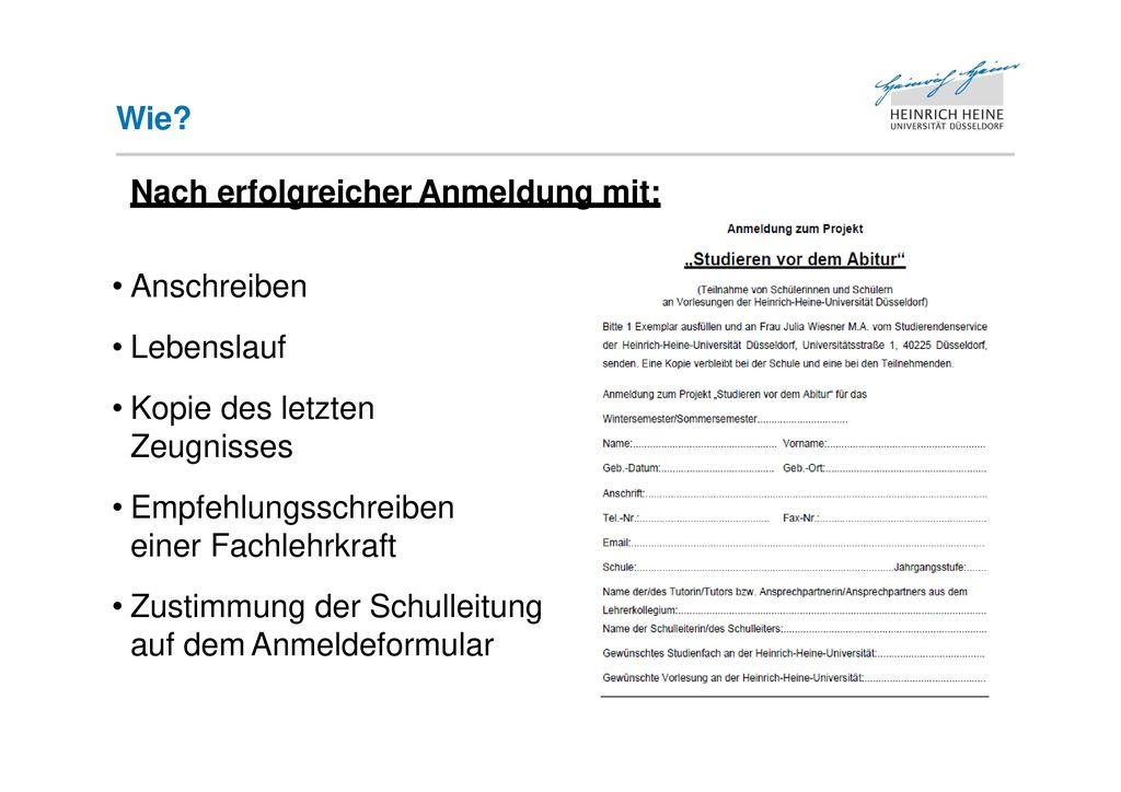 Nett Lehrerempfehlung Lebenslauf Fotos - Beispiel Wiederaufnahme ...