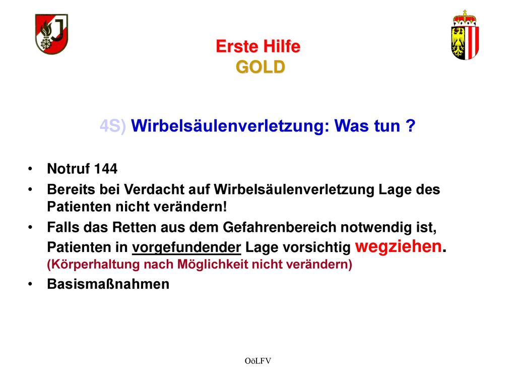 wissenstest feuerwehrjugend ober sterreich station erste hilfe gold ppt video online. Black Bedroom Furniture Sets. Home Design Ideas