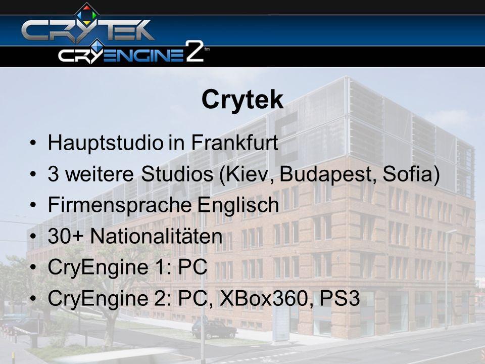 Crytek Hauptstudio in Frankfurt