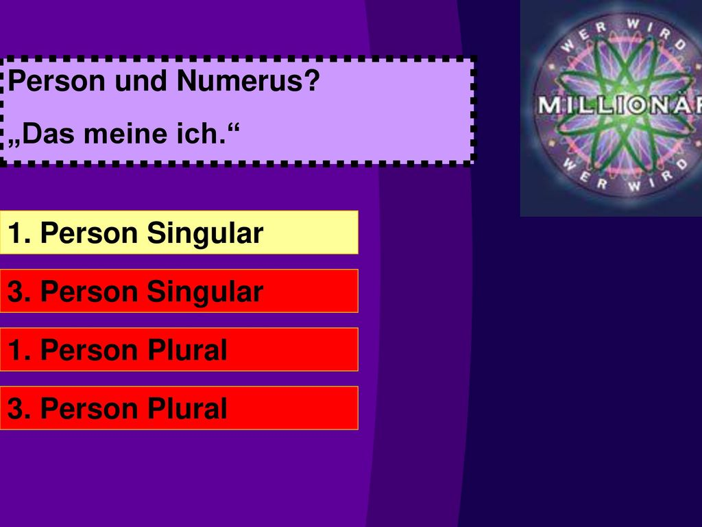 person und numerus