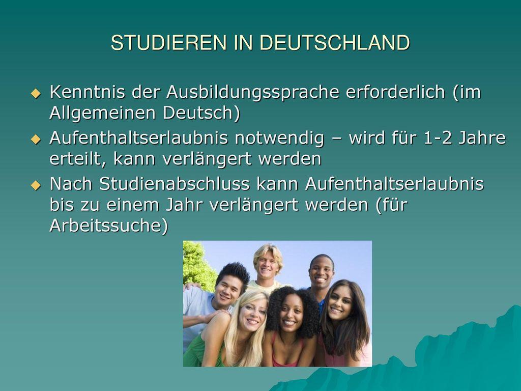 Migration nach deutschland ppt video online herunterladen for Studieren in deutschland