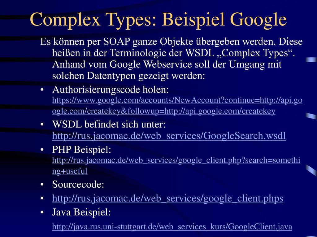 Google search wsdl
