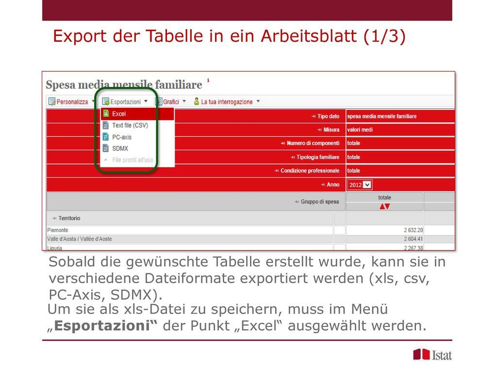 Arbeitsblatt Excel Einführung : Einführung in die amtliche statistik i stat ppt video