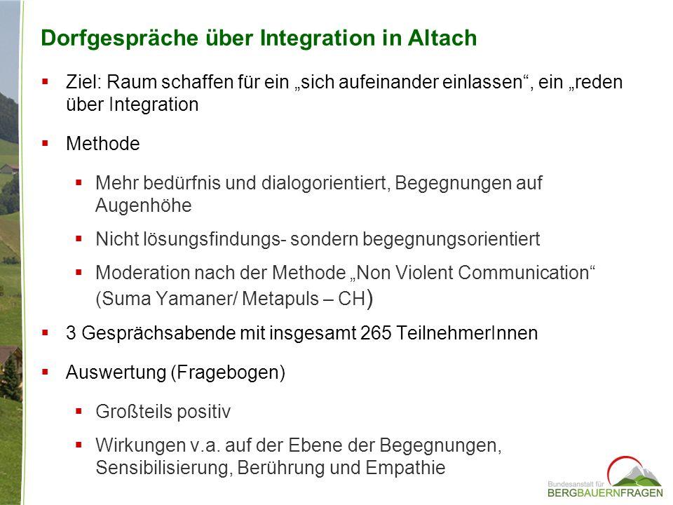 Dorfgespräche über Integration in Altach
