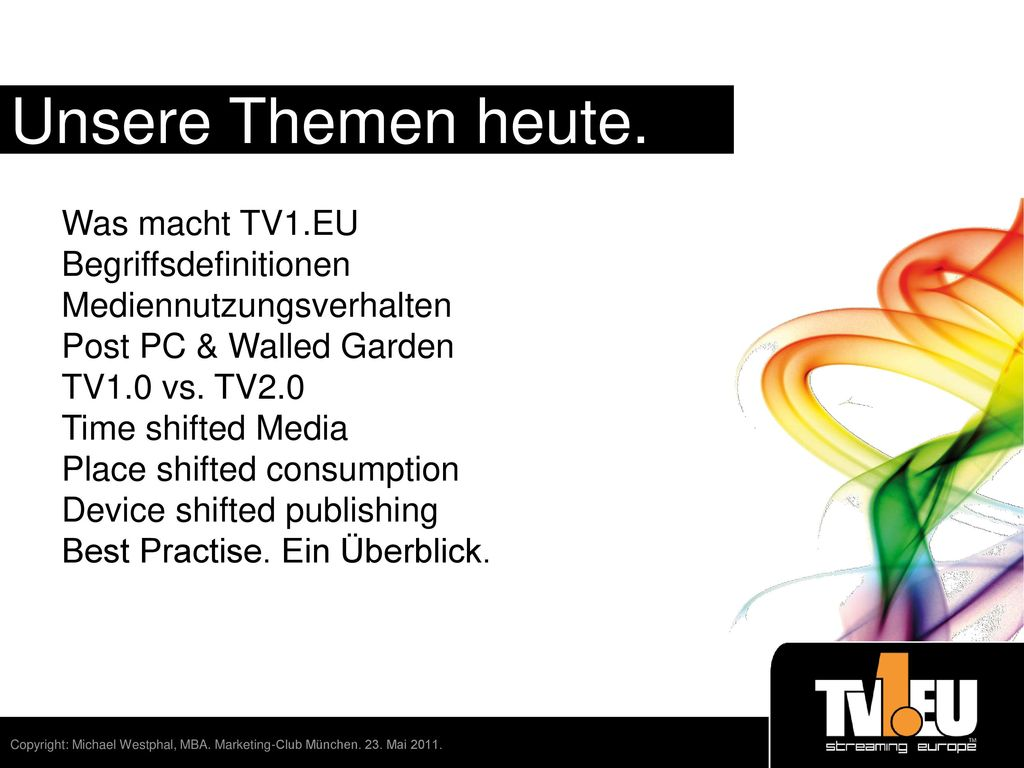 Time place device shifted media ppt video online for Spiegel tv magazin heute themen