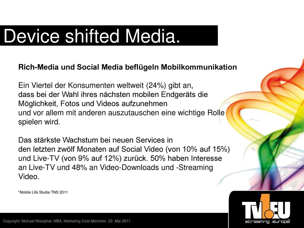 Time place device shifted media ppt video online - Tv und mediamobel ...