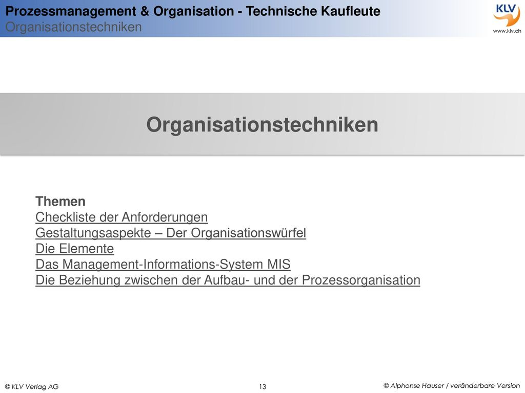 Organisationstechniken