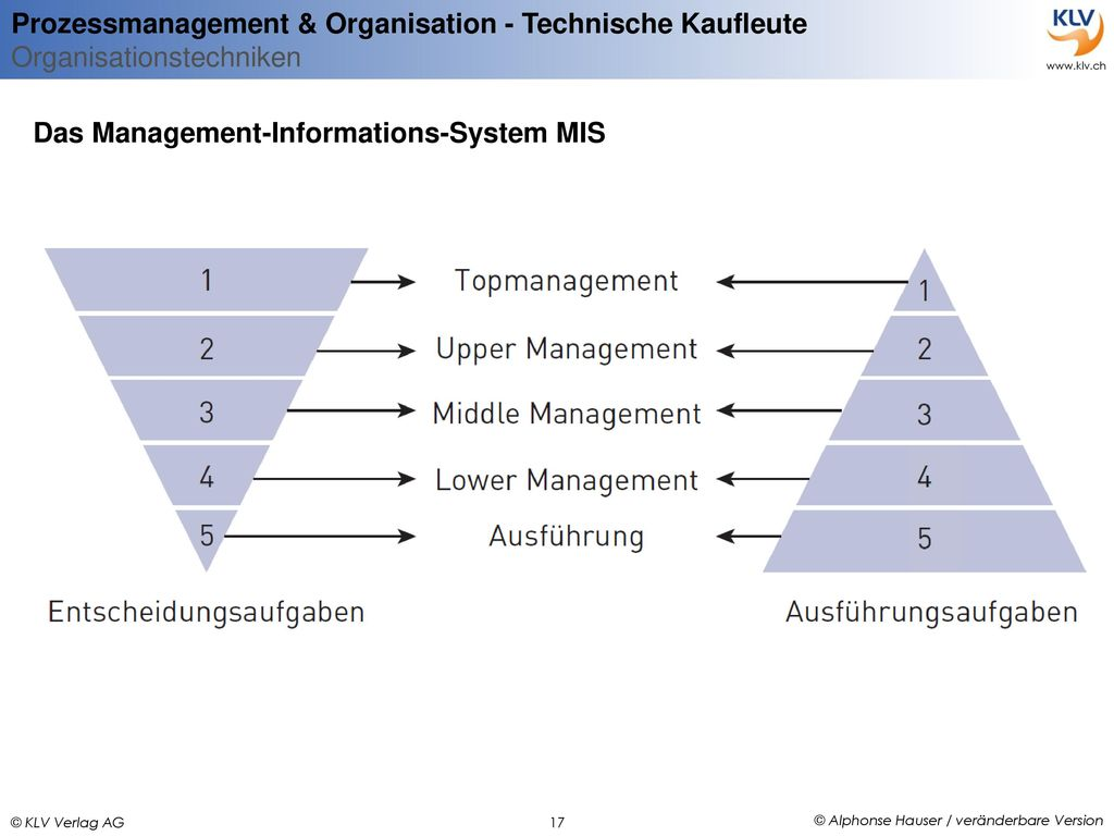 Das Management-Informations-System MIS