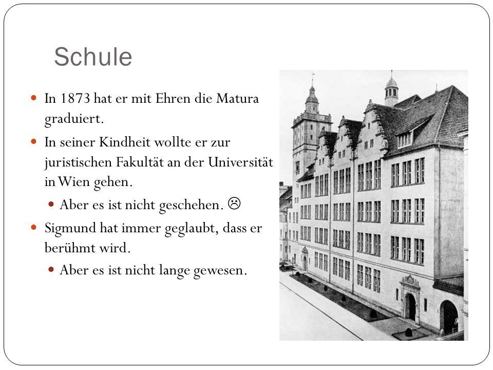 Schule In 1873 hat er mit Ehren die Matura graduiert.