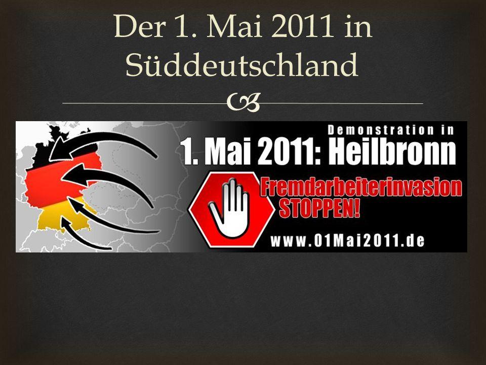 Der 1. Mai 2011 in Süddeutschland