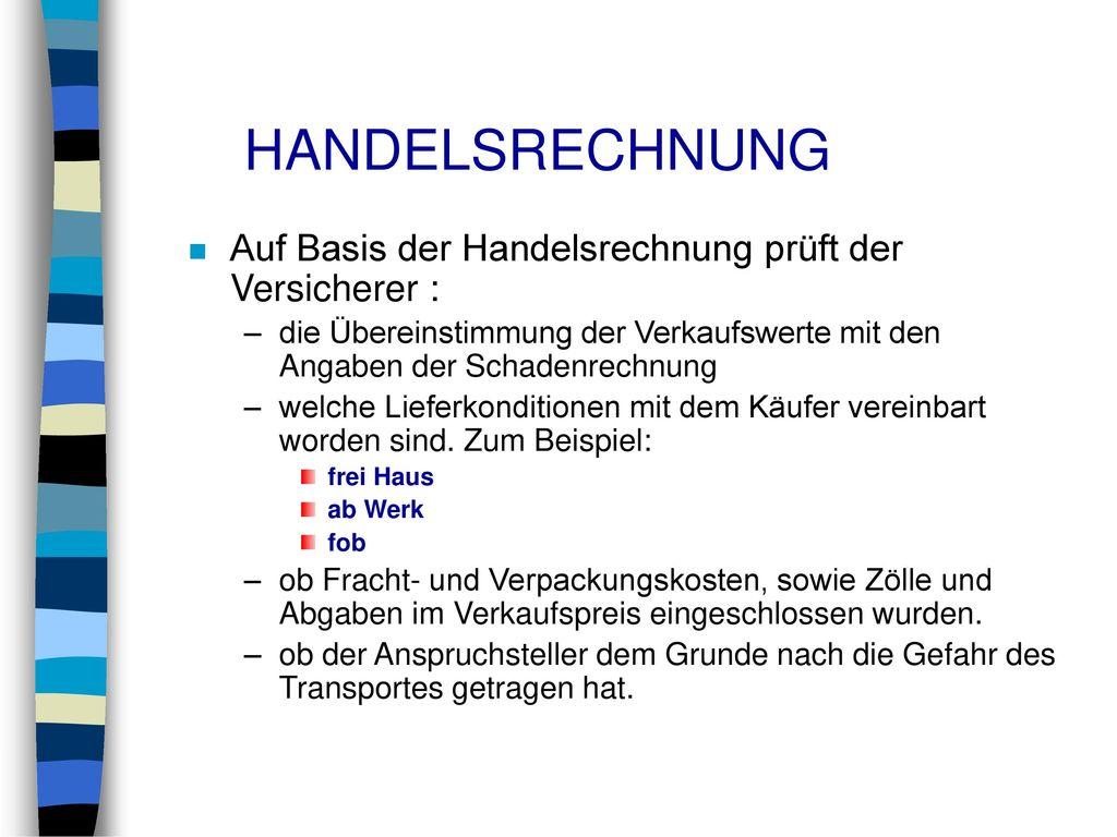 Outstanding Beispiel Für Handelsrechnung Frieze - FORTSETZUNG ...