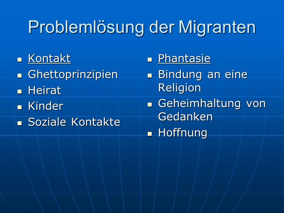 Problemlösung der Migranten