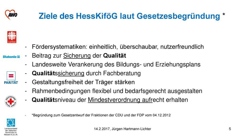 Ziele des HessKiföG laut Gesetzesbegründung *